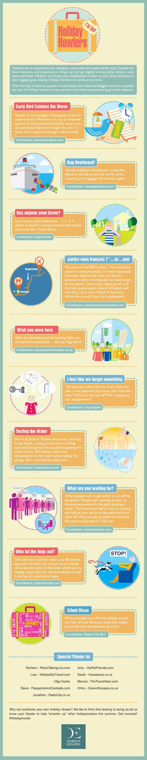 infographic of some of the most unfortunate things to happen on holiday