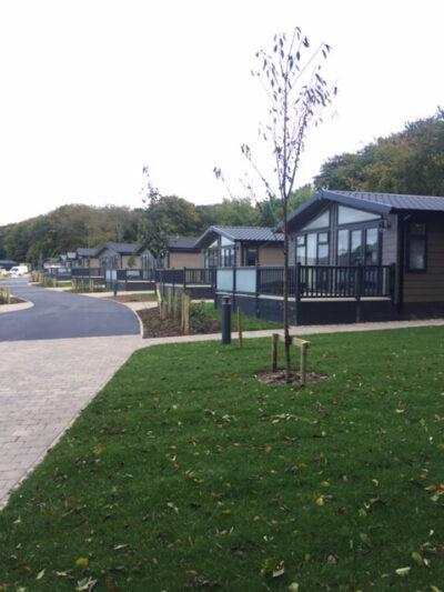 Photo of the lodges at Hawkchurch Resort & Spa