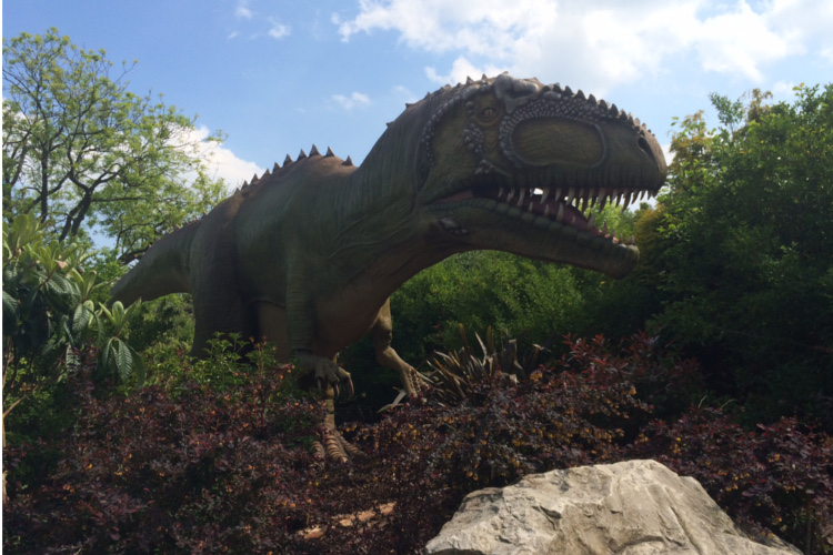 T rex model at chester zoo