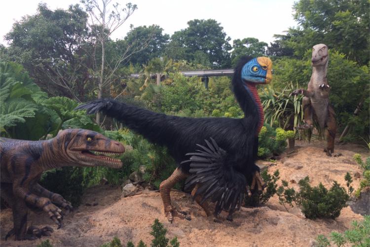 Pre-historic creature model at chester zoo