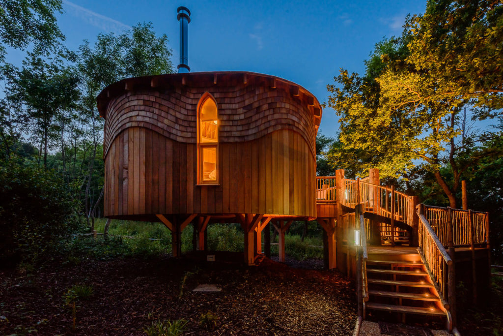 External shot of the treehouse at Woodside