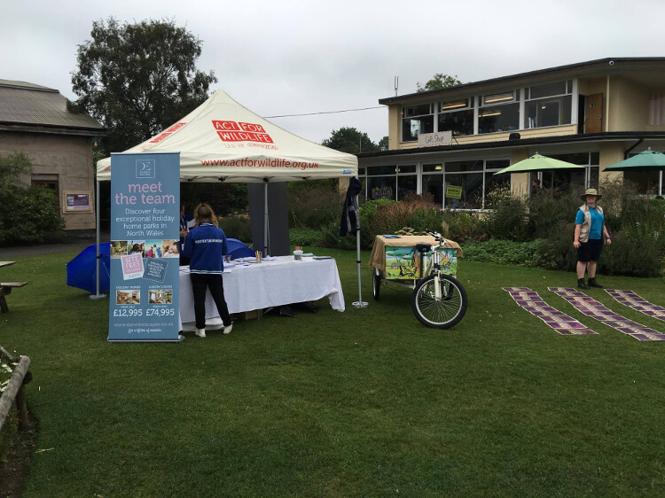 Photo of the Darwin Escapes stall at Chester zoo