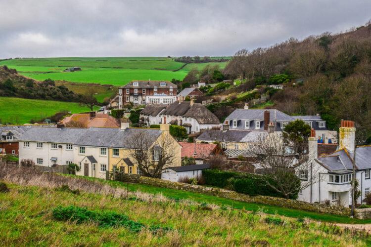 Photo of the houses in Lulworth, Dorset