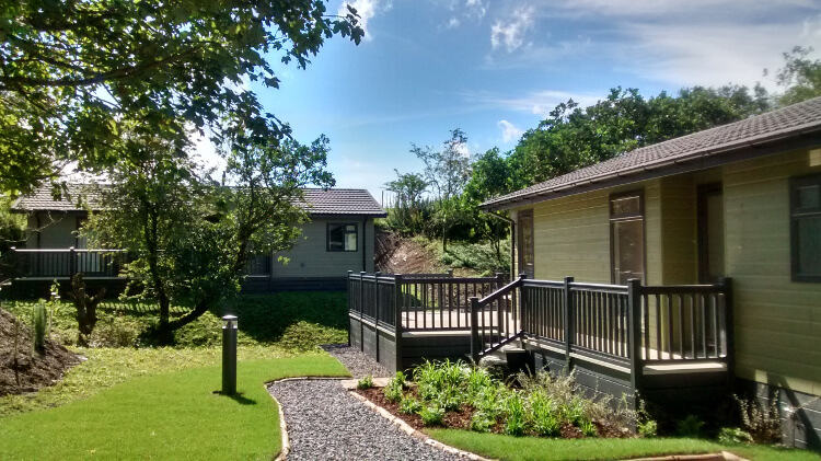 Photo of the lodges at Keswick Reach