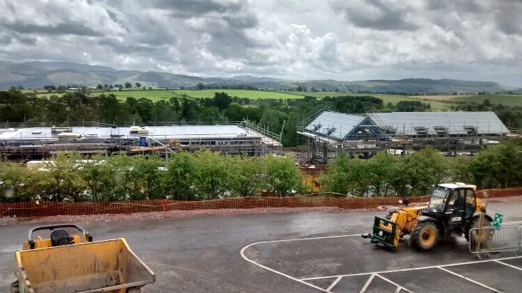 Photo of Keswick Reach facilities under construction