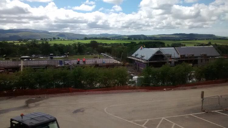 Photo of Keswick Reach's facilities under construction