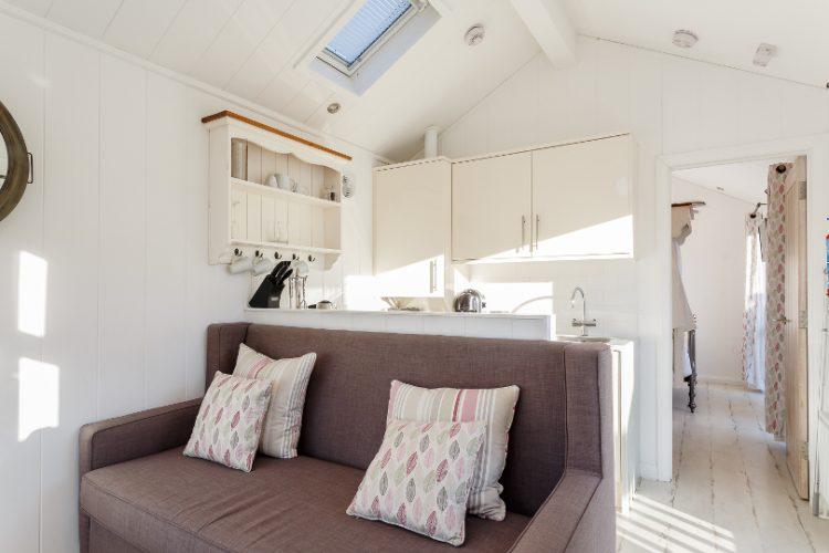 Lounge in a beach hut at beach cove