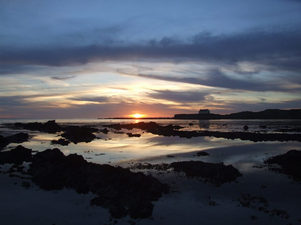 Photo of Aberffraw beach in Anglesey during a sunset