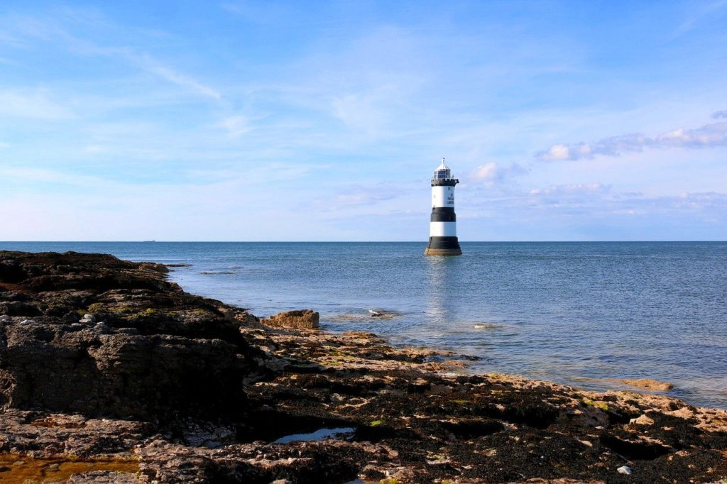 Photo of Penmon lighthouse in Anglesey, North Wales
