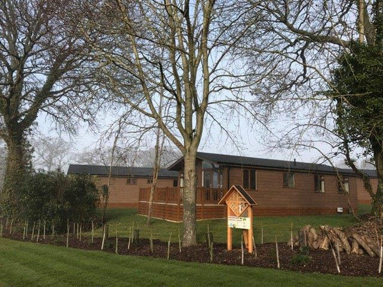Photo of the lodges at Wareham forest lodge retreat