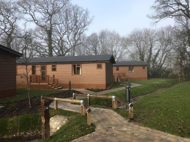 Photos of the lodges at Wareham Forest Lodge Retreat