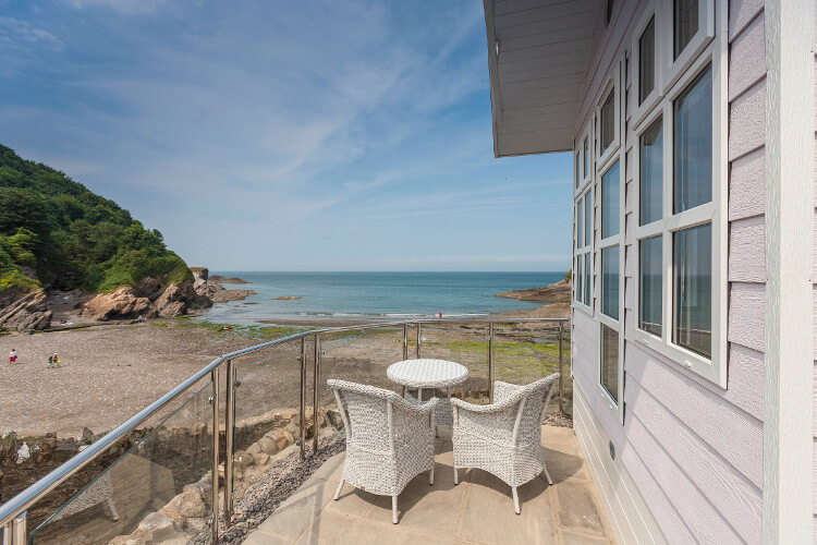 Photo of the views from a beach hut decking