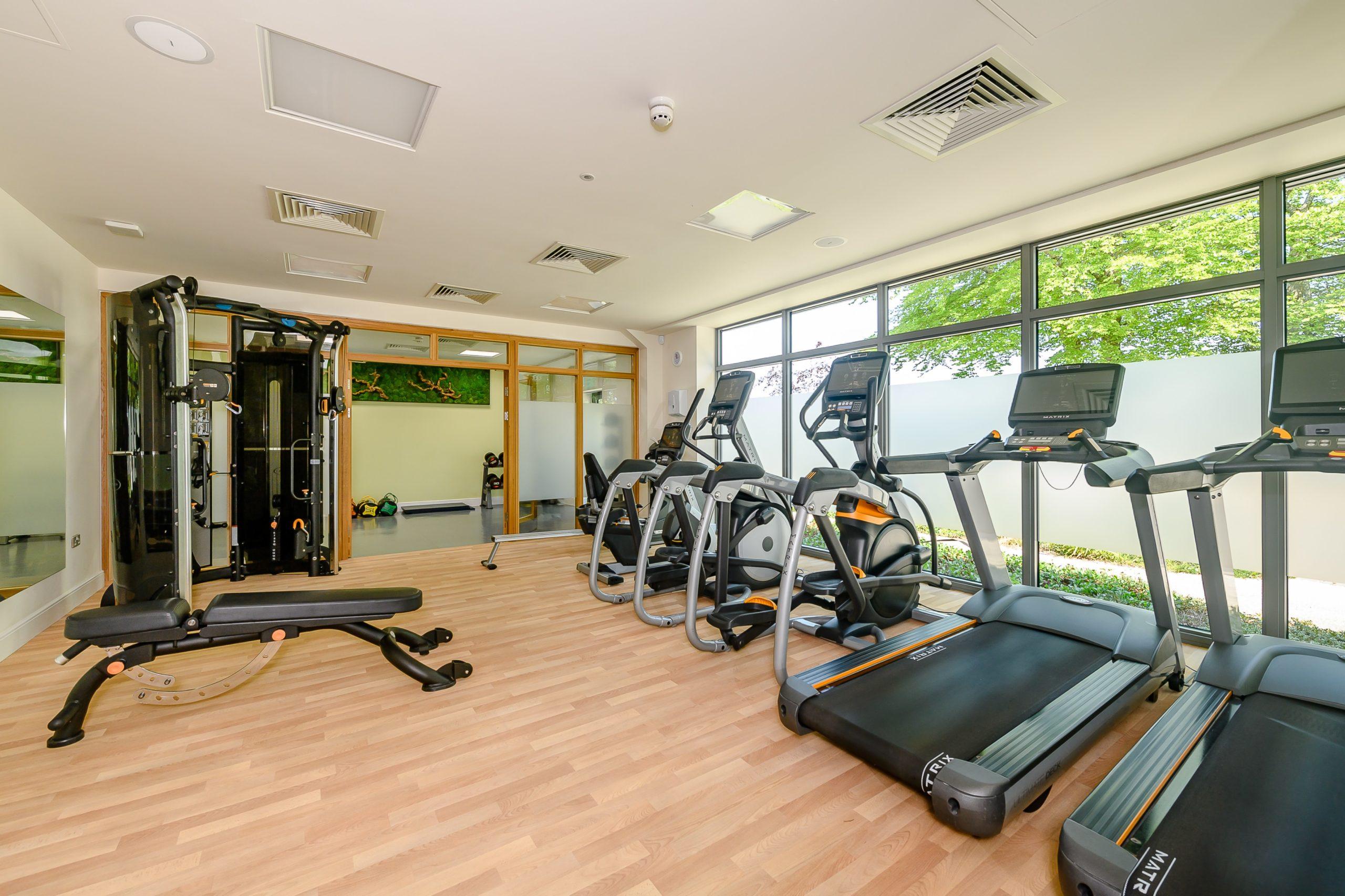 Interior photo of the gym at hawkchurch