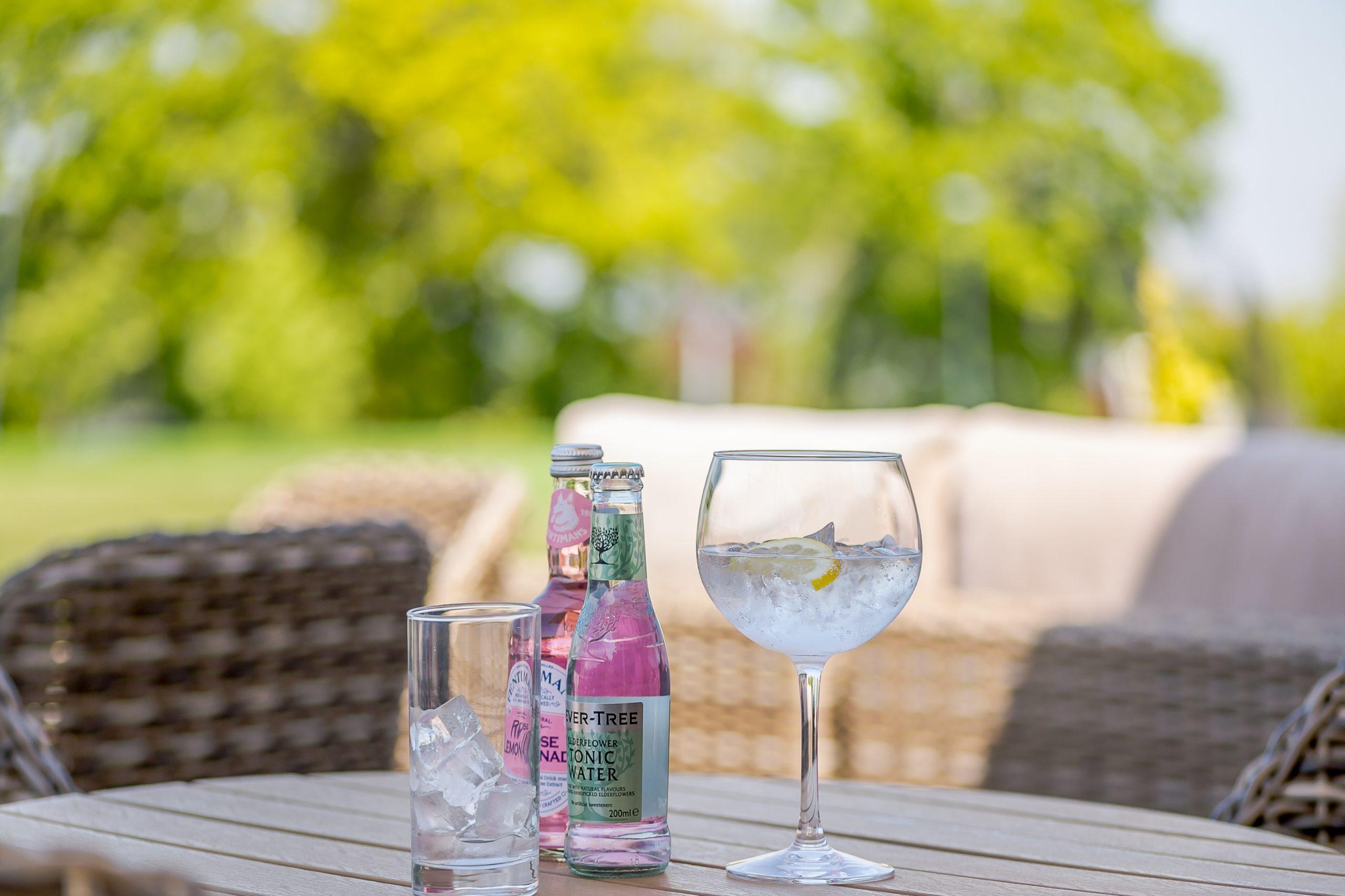 Photo of a gin and tonic at Hawkchurch