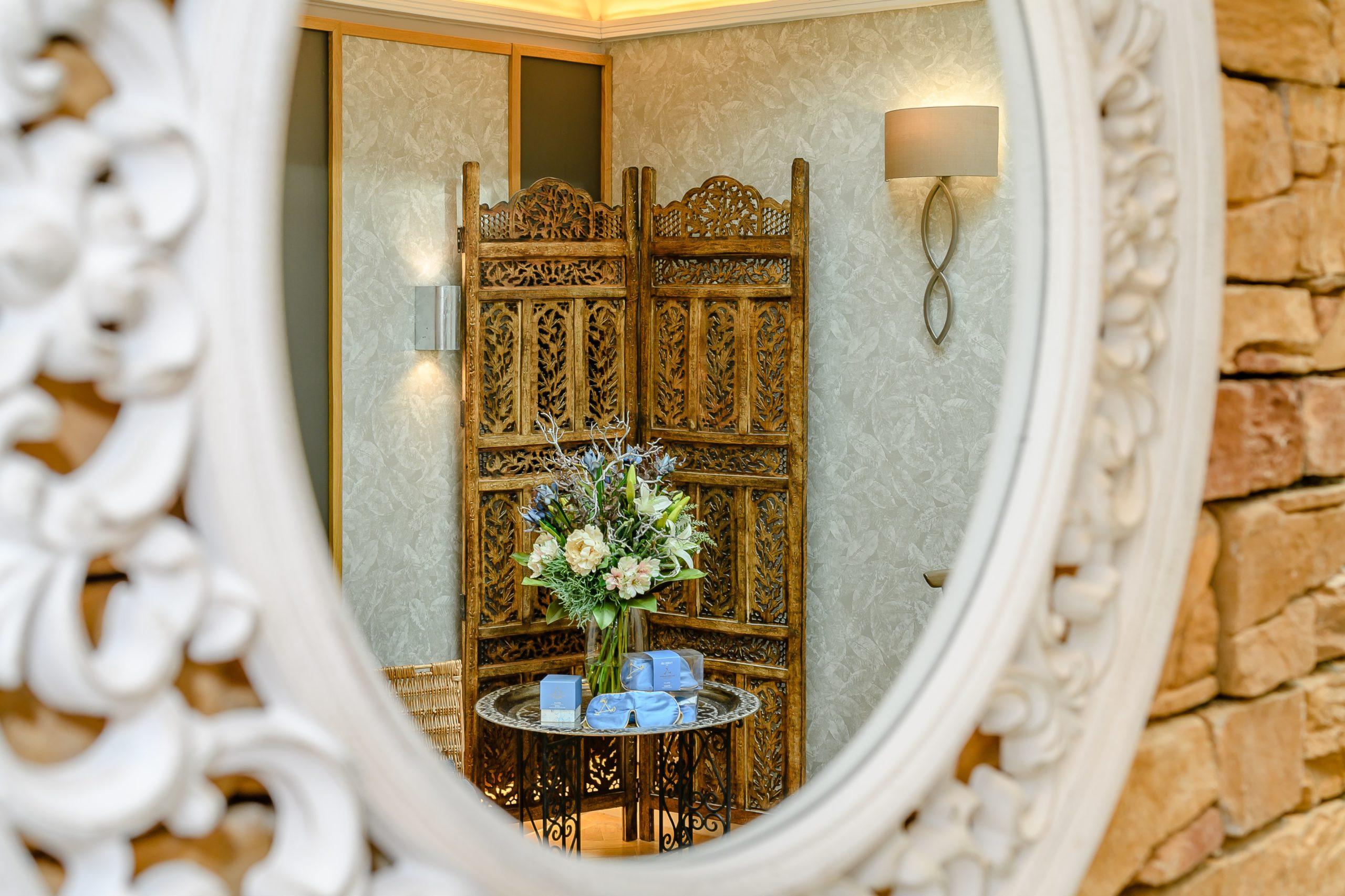Photo of a mirror in Hawkchurch's spa