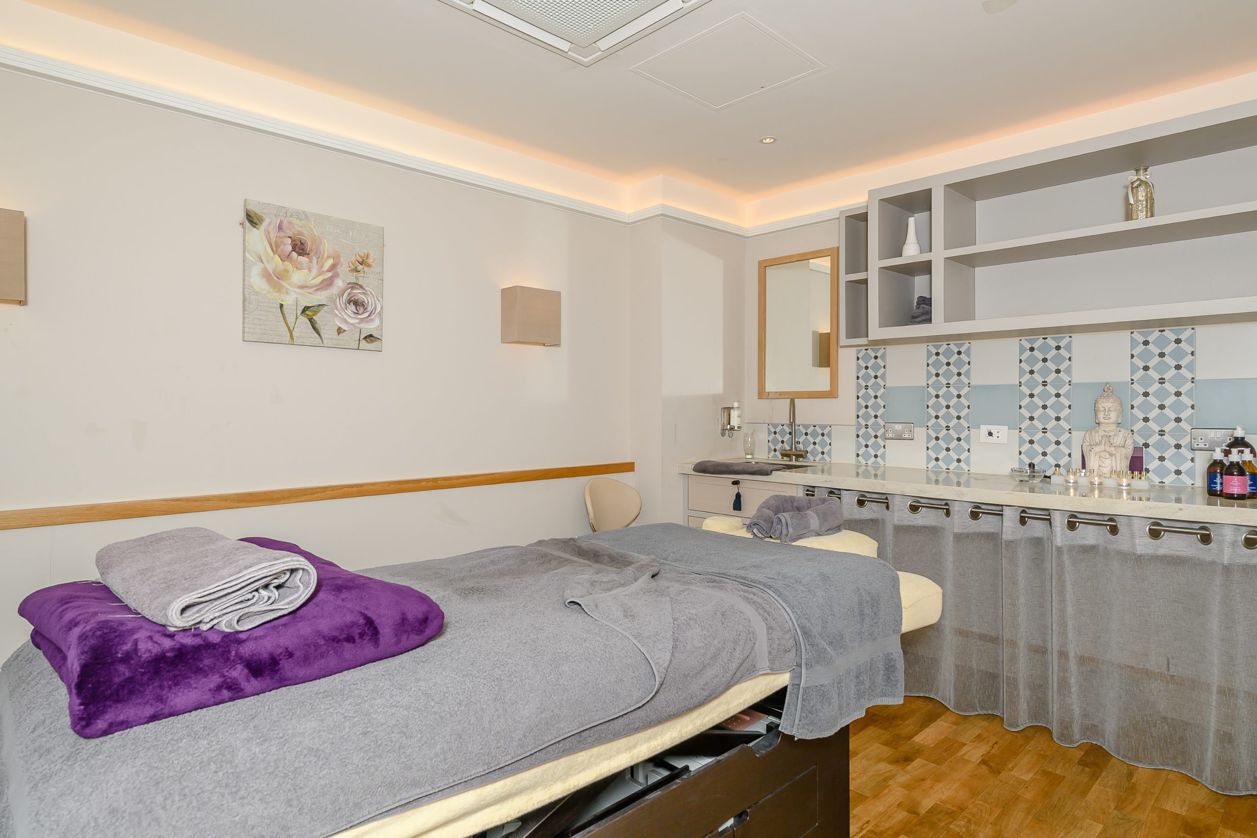 Massage table in Hawkchurch's spa