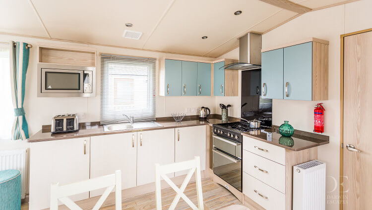 Interior shot of the kitchen in the ABI Beachcomber