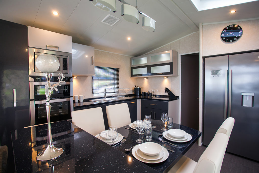 Interior shot of the kitchen in the Carnaby Envoy