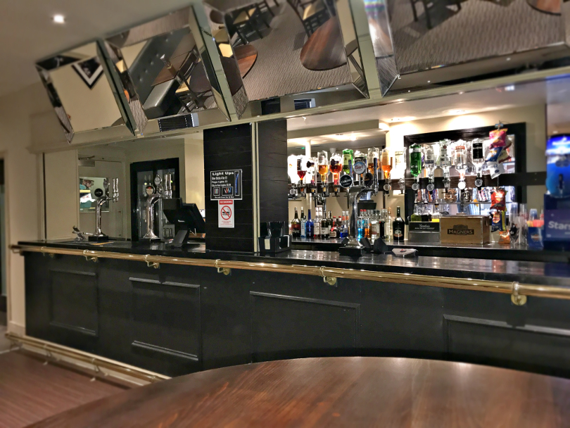 Photo of the bar in the North Star lounge at Talacre Beach