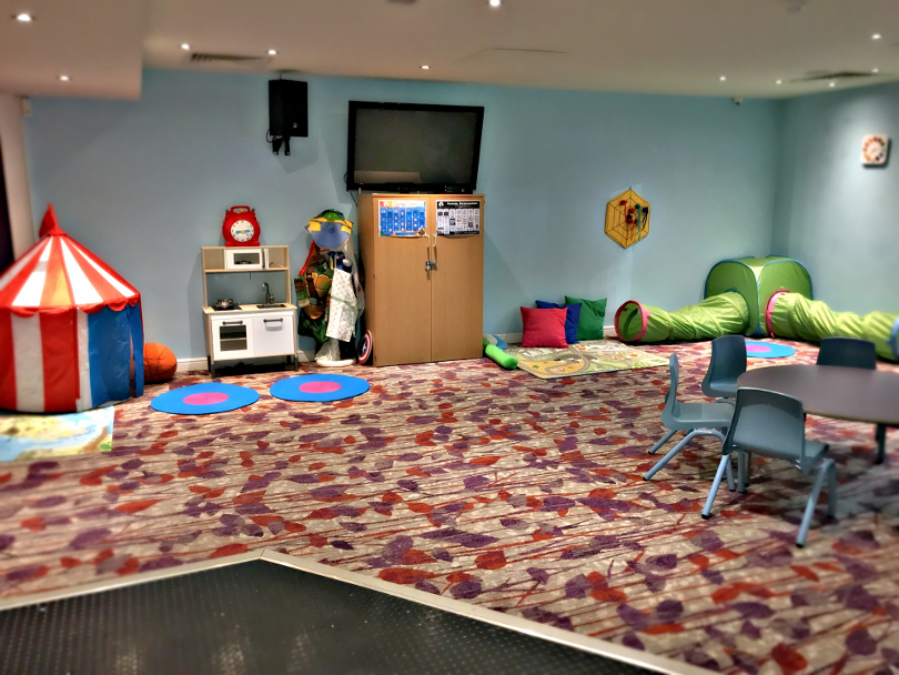 Interior shot of pebbles play room in the clubhouse