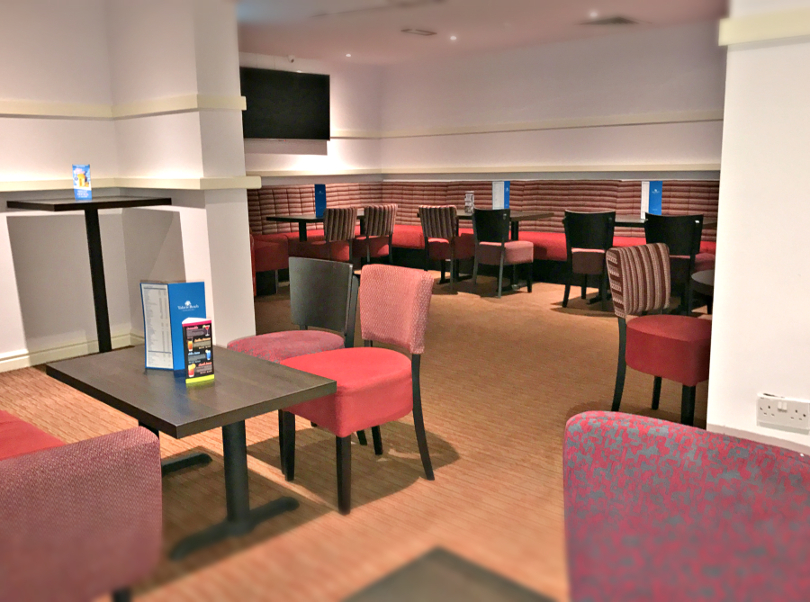 Interior shot of the sports lounge area in Talacre's clubhouse