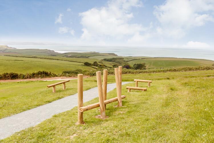Sandymouth walking trail on resort
