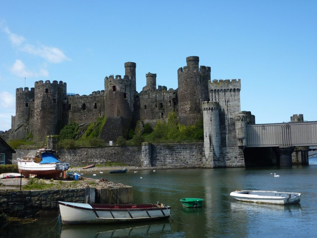 View of Conwy Castle from the water front