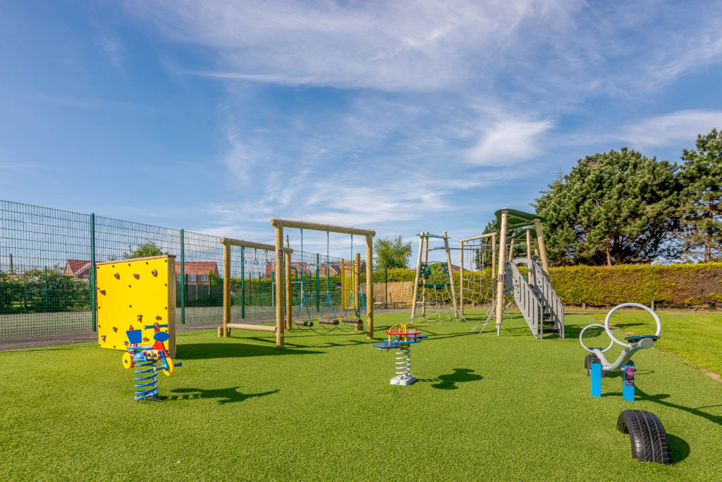Photo of New Pines' brand new play park