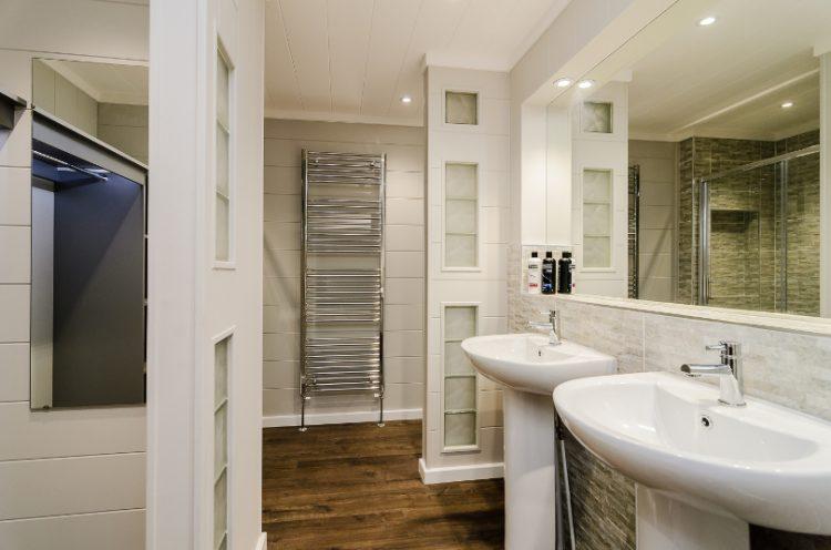 Interior of a bathroom in a lodge at Canterbury Reach