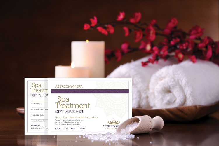 Photo of a spa voucher you can buy from Aberconwy Spa
