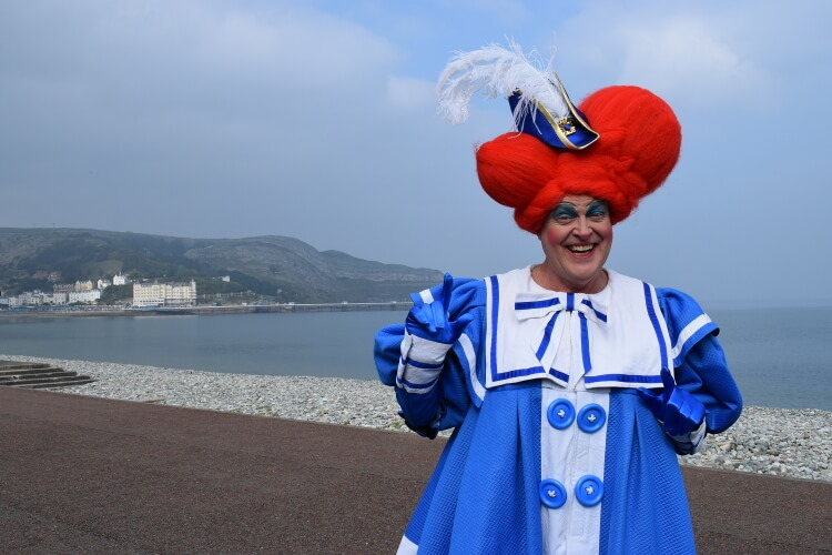 Andy Jones posing for a photo on the Peter Pan panto press launch