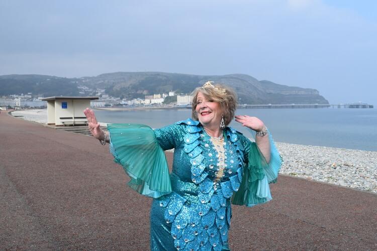 Pauline Daniels as the Mermaid in the Pete Pan panto posing for a photo