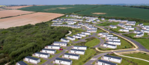 Aerial shot of Piran Meadows. Our perfectly placed holiday park in Cornwall.