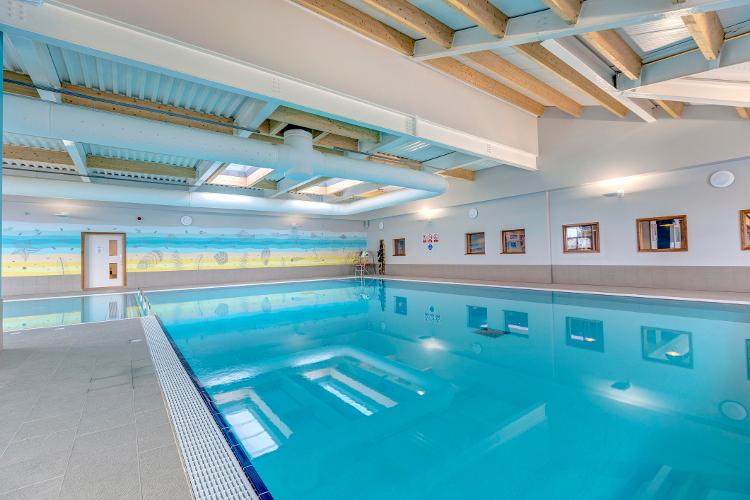 Interior shot of the pool at Piran Meadows