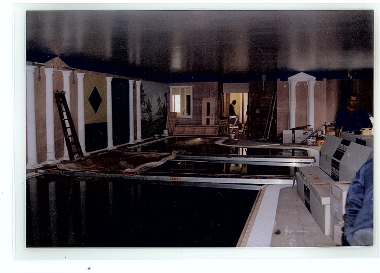 Photo of the pool at Aberconwy Resort & Spa during construction