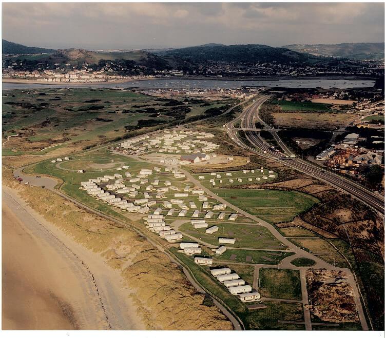 Aerial shot of Aberconwy Resort & Spa