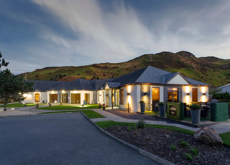 Photo of the main building at Aberconwy Resort & Spa in present day