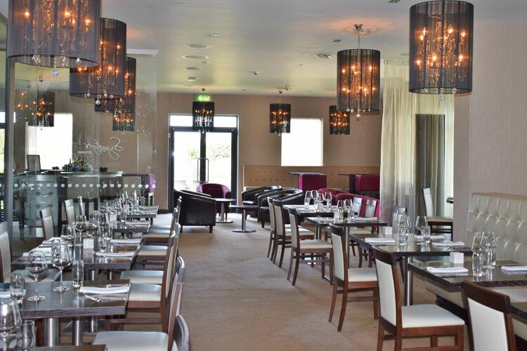 Interior shot of the dining area in Signatures restaurant