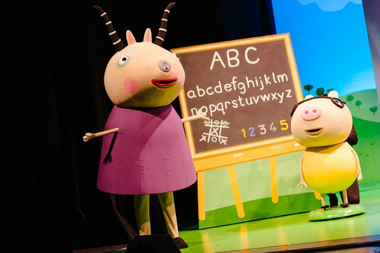 Photo of Peppa Pig on stage