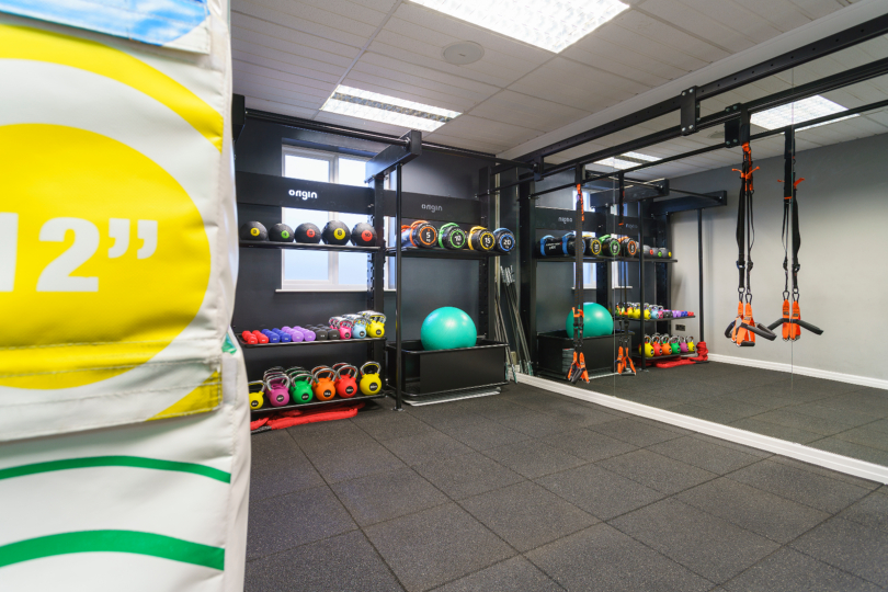 Interior shot of the HIIT room at Langley's