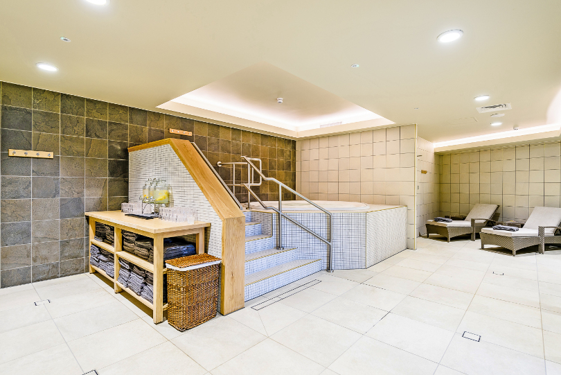 Interior shot of the relaxation suite at Ammara spa
