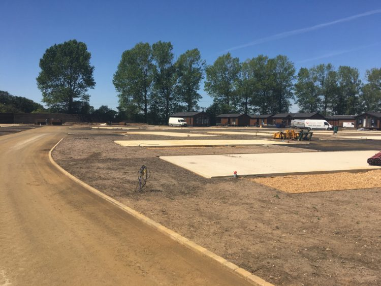 Photo of the empty plots at Norfolk Woods Resort & Spa