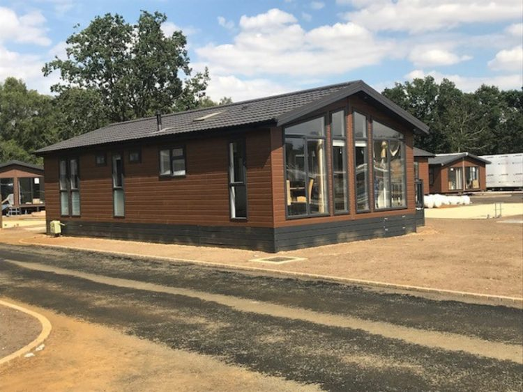 Exterior shot of a lodge at Norfolk Woods
