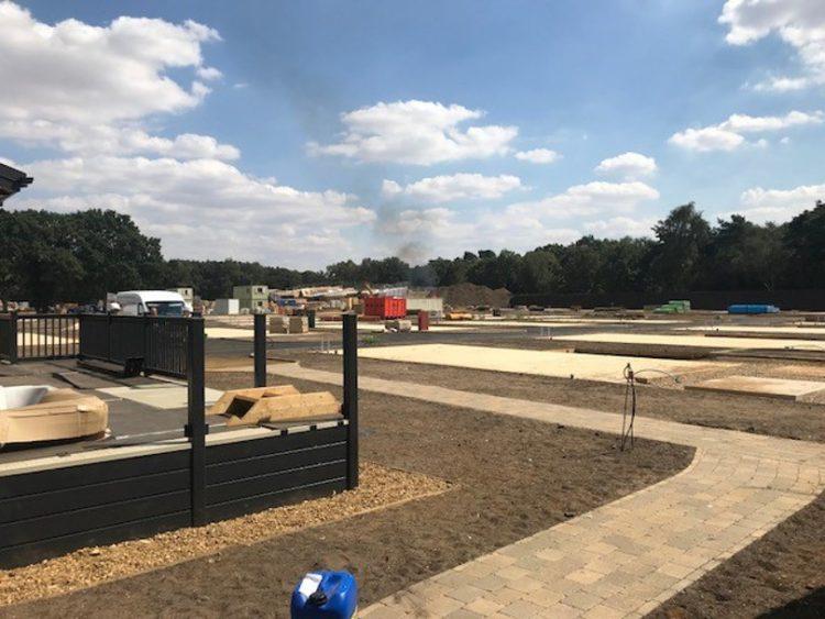 Photo of Norfolk Woods' empty plots during development