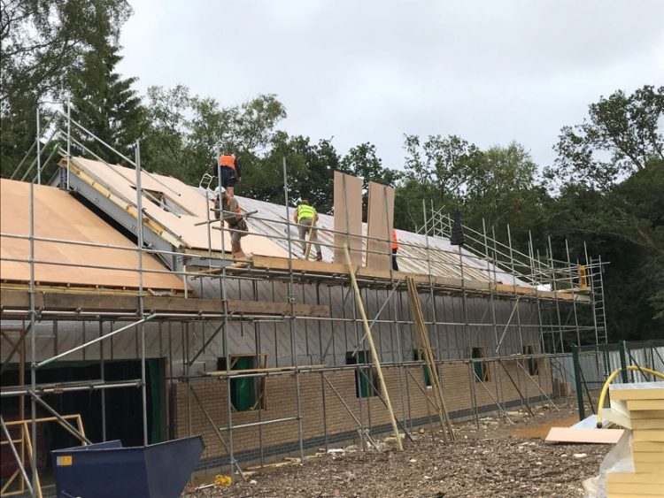 Norfolk Woods' facilities under construction