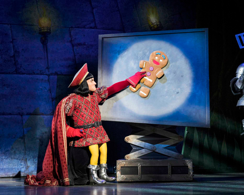 Photo of Lord Farquaad during a performance of Shrek the Musical