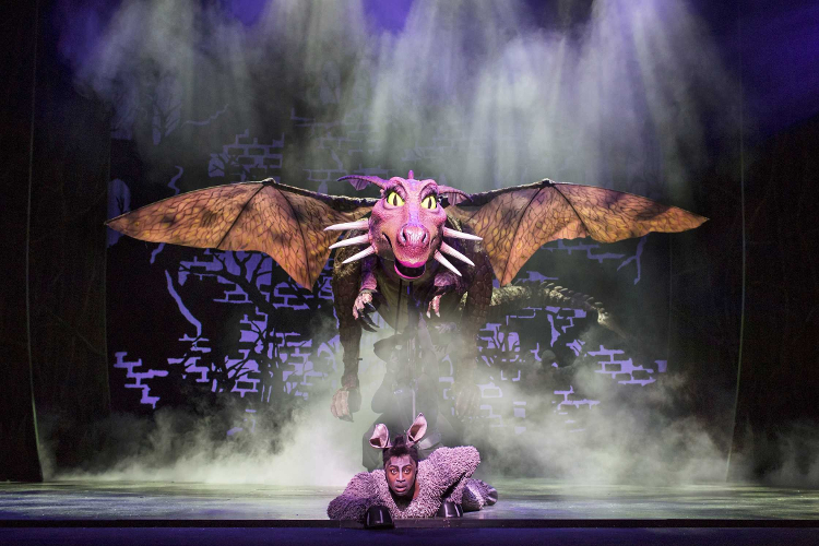 Photo of Donkey and the Dragon in Shrek the Musical