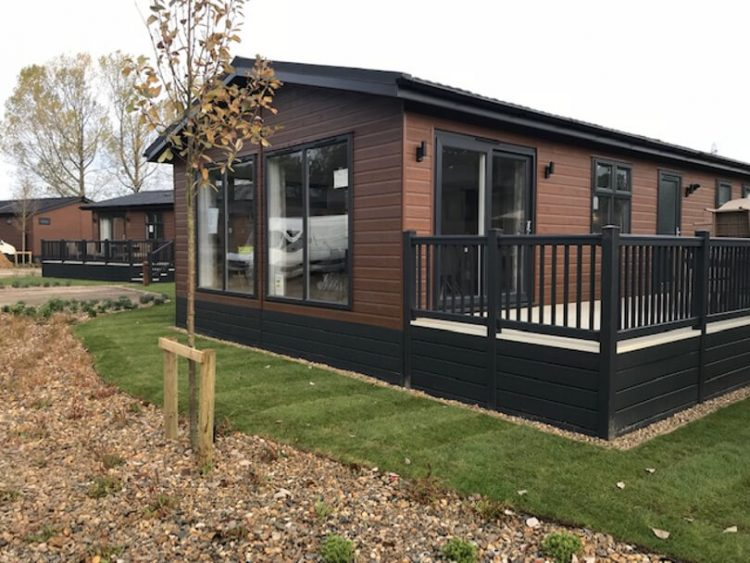 external view of a holiday lodge at Norfolk Woods