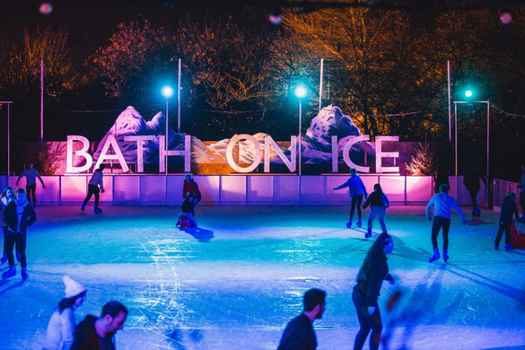 Photo of people skating on the ice rink at Bath on ice