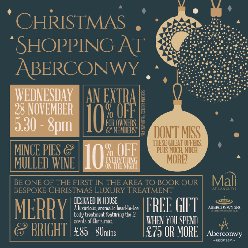 A photo of the Aberconwy Christmas shopping event poster